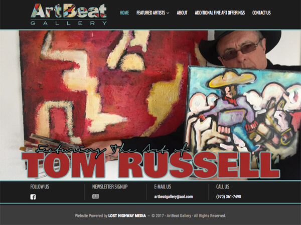 ArtBeat Gallery Website