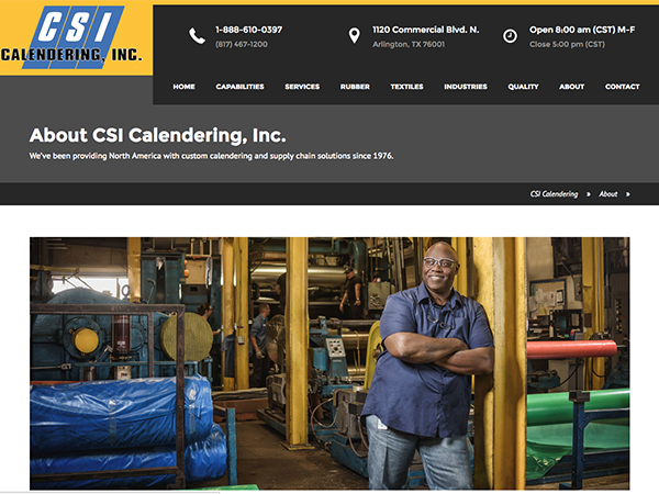 CSI Calendering Website