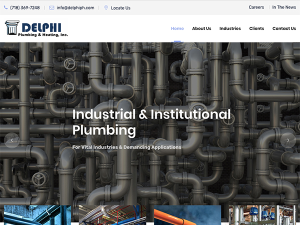 Delphi Plumbing & Heating Website